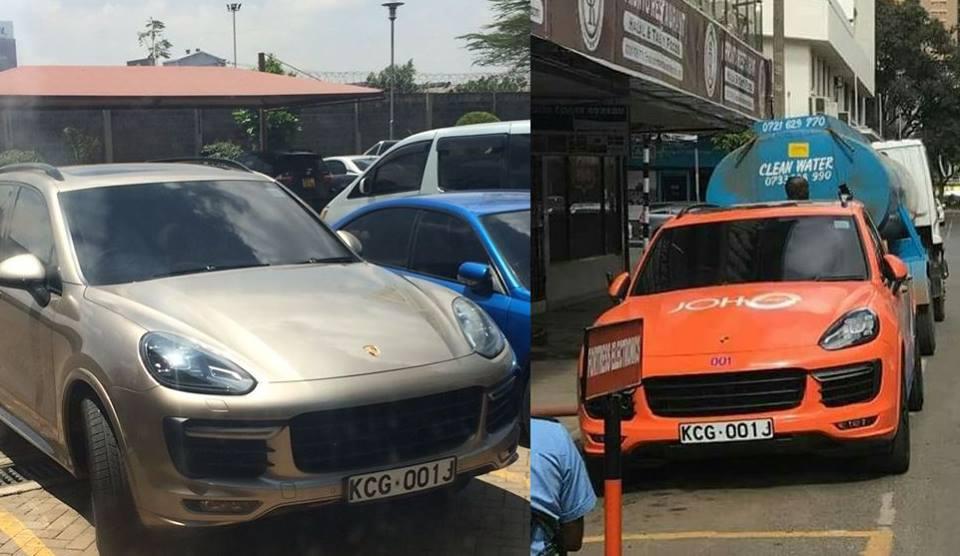 Joho takes back his Porsche Cayenne from Betty Kyallo (Photos)
