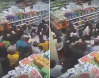 KOT almost brought to tears as video emerges of Kenyans fighting to buy unga at supermarket (Video)
