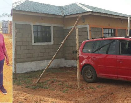 Nyota Ndogo builds her mom a simple cool house after successfully building herself a bungalow (Photos)