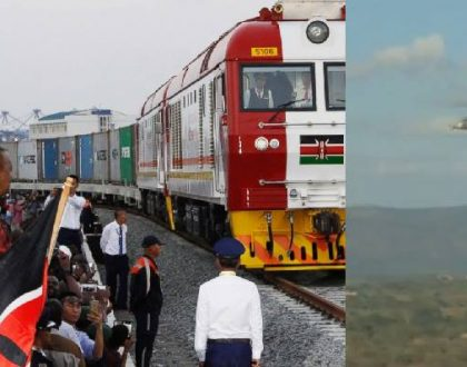 Air Force attack helicopters scrambled to protect president Uhuru during his entire ride on SGR train (Video)