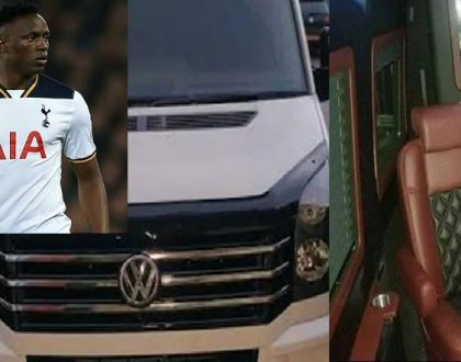 Inside Victor Wanyama's Kes 25 million Volkswagen which has a fridge, coffeemaker and rotating seats (Photos)