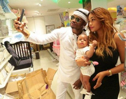 Zari Hassan, Diamond Platnumz and their daughter, Tiffah