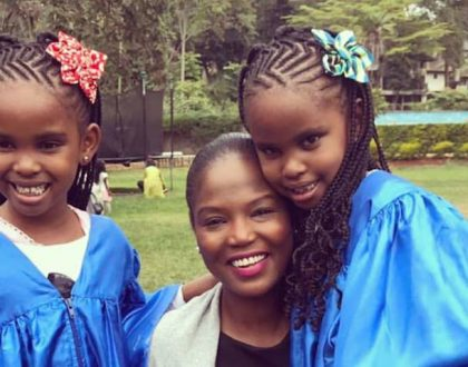 Evaline Momanyi proves she's the perfect step mother for Grace Msalame's twins (Photos)