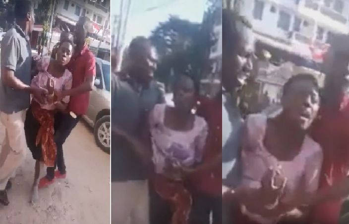 Raw video of Akothee running and crying in the street of Mombasa sparks rumors illuminati have gone after her (Video)