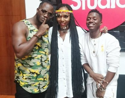 Dela goes easy on Bebe Cool even though he singled her out in his list of laziest musicians in Kenya