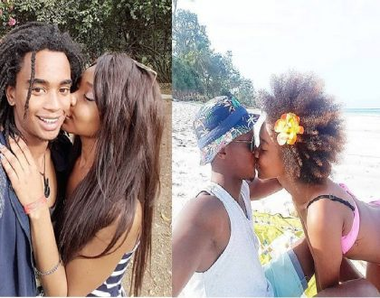 Elodie Zone publicly exchanges saliva with new sweetheart months after dumping Kibaki's grandson (Photos)