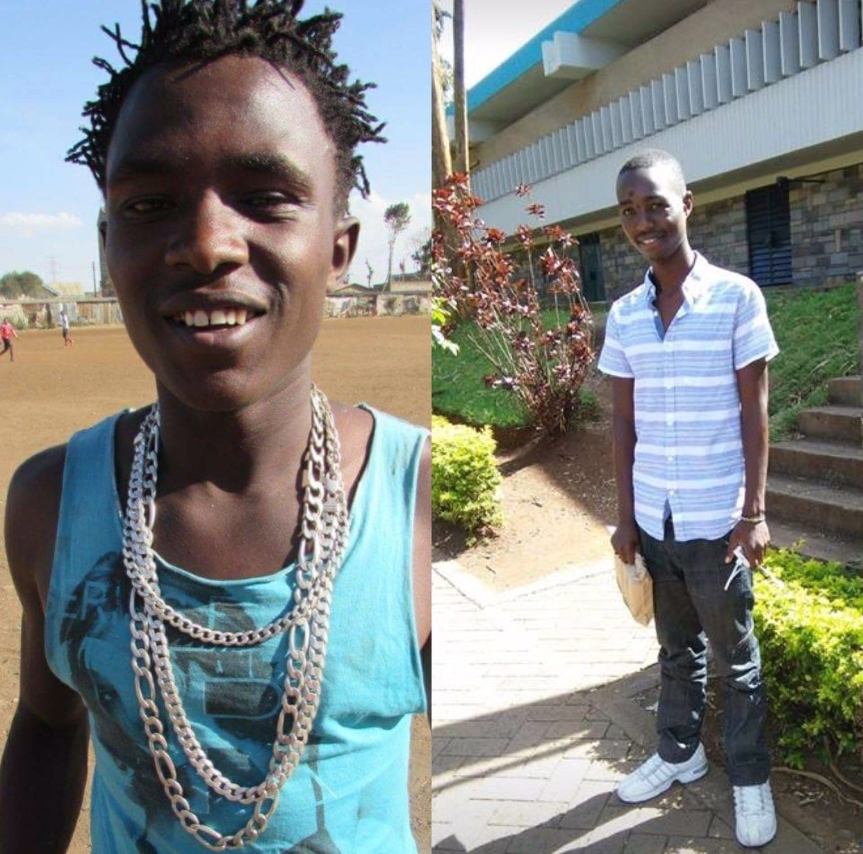 """""""Jonte and Kamore you've been warned!"""" Hessy Wa Kayole shares photos of the young men he will shoot to kill next time!"""