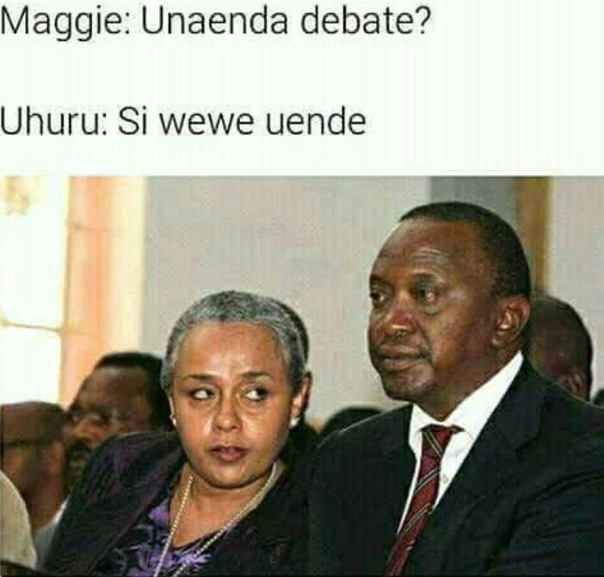 Anyway the presidential debate went just fine despite uhuru kenyatta not being present