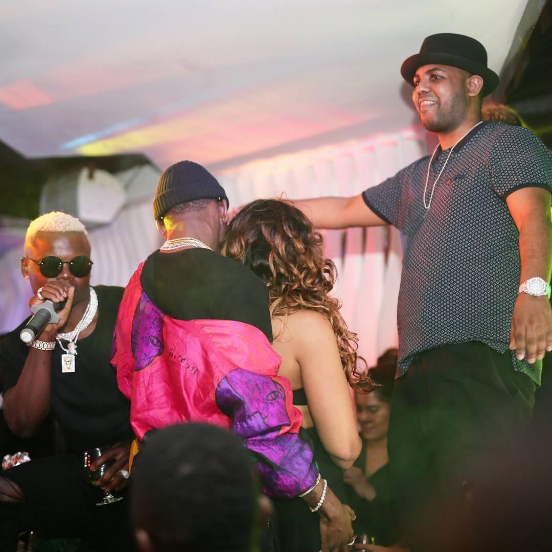 Diamond Platnumz and Harmonize party with their girlfriends at popular club in Nairobi