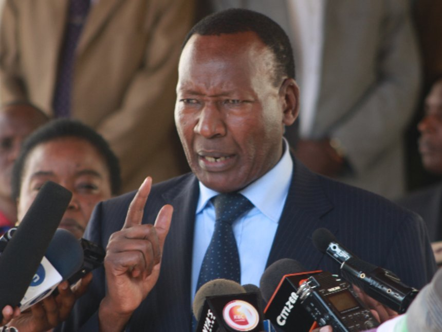 Kenya interior minister dies in hospital