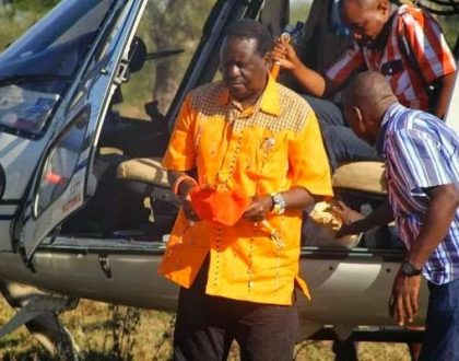 Photos of Jimi Wanjigi's Kes 168 million helicopter which he allegedly bought for Raila