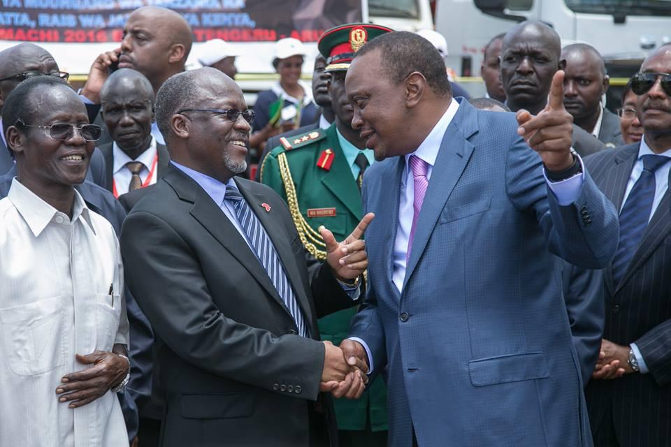 Magufuli, Uhuru Kenyatta
