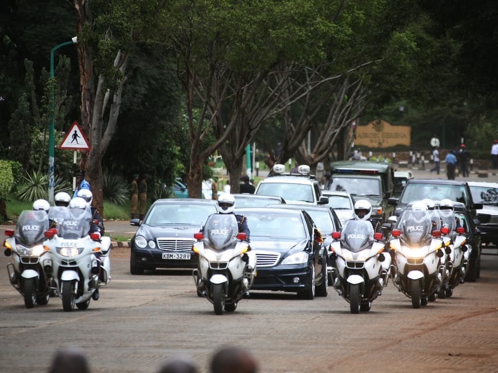 President Uhuru Kenyatta's motorcade involved in an accident in Nyamira