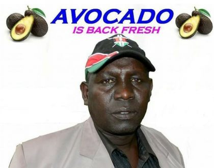 Meet Avocadoman...Father of 12 and casual laborer has wowed netizens for flooring Jubilee candidate in Jubilee stronghold