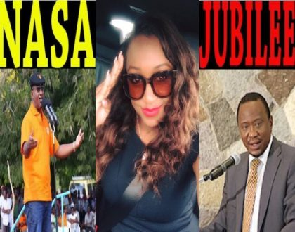 Betty Kyallo causes a stir after she gave a hint of the political affiliation Nasa or Jubilee she's supporting
