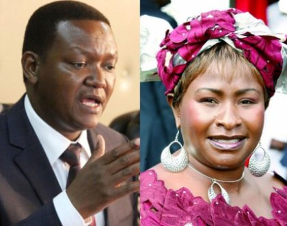 """We will give Ndeti a job if she is interested"" says Alfred Mutua"
