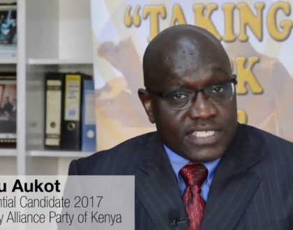 Thirdway Alliance presidential candidate Ekuru Aukot sounds the alarm on new discovery about rigging
