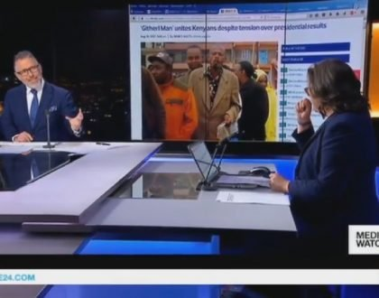 France leading TV station spends 3 minutes talking about Githeri man