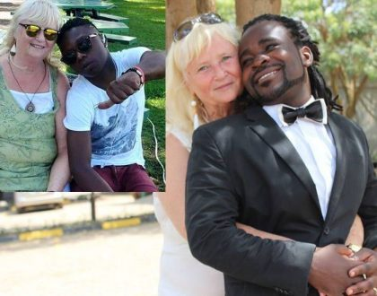 70 year old Swedish granny who was dumped by Ugandan singer hooks up with a 19 year old toyboy (Photos+video)