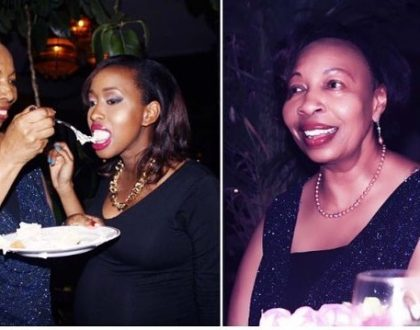 This is how former Citizen TV's news anchor Janet Mbugua celebrated her mum's birthday