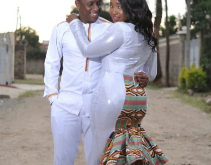 Officially off the market! Actress Catherine Kamau and the love of her life hold a traditional wedding (Photos)