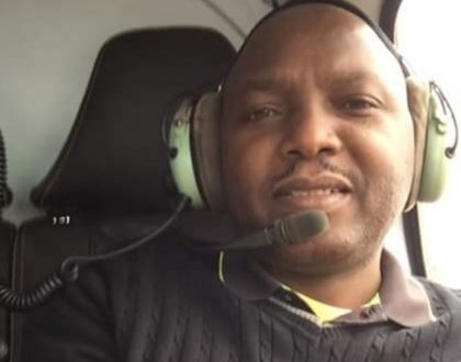 In pictures: This is how flamboyant lawyer Donald Kipkorir flew to the polling station to vote