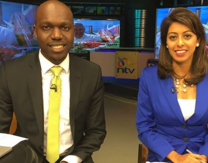 Prolonged tallying of election results takes its toll on Larry Madowo and Smriti Vidyarthi (Photos)
