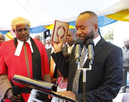 Joho's adorable son and daughter appears at his inauguration ceremony (Photos)