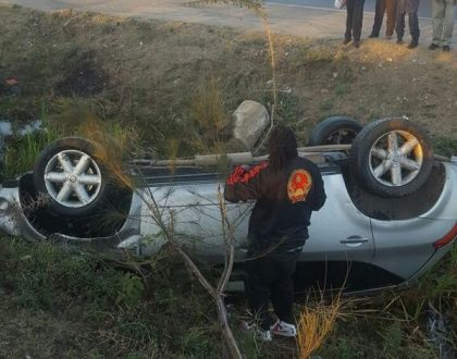 Colonel Mustafa explains the cause of Sunday accident that saw him cheat death (Photos)
