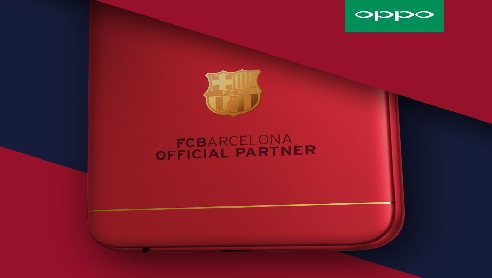 556376649923e Leaked details of FC Barcelona OPPO F3 with 18K gold-plated club insignia  set to