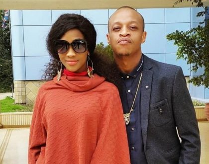 Prezzo finally gets rid of Michelle Yola's name tattoo on his skin after vicious fight with her (Photos)