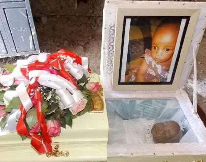 10 photos of the emotional sendoff for baby Samantha Pendo who was clobbered by police in Kisumu