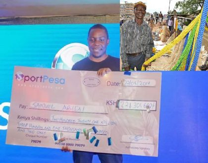 Samuel Abisai's father continues to sell ropes in Kakamega as his multimillionaire son lives large (Photos)