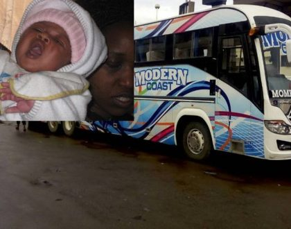 """""""It was like a movie"""" Passenger narrates how 19 year old student gave birth on Mombasa-bound Modern Coast Bus (Photos)"""