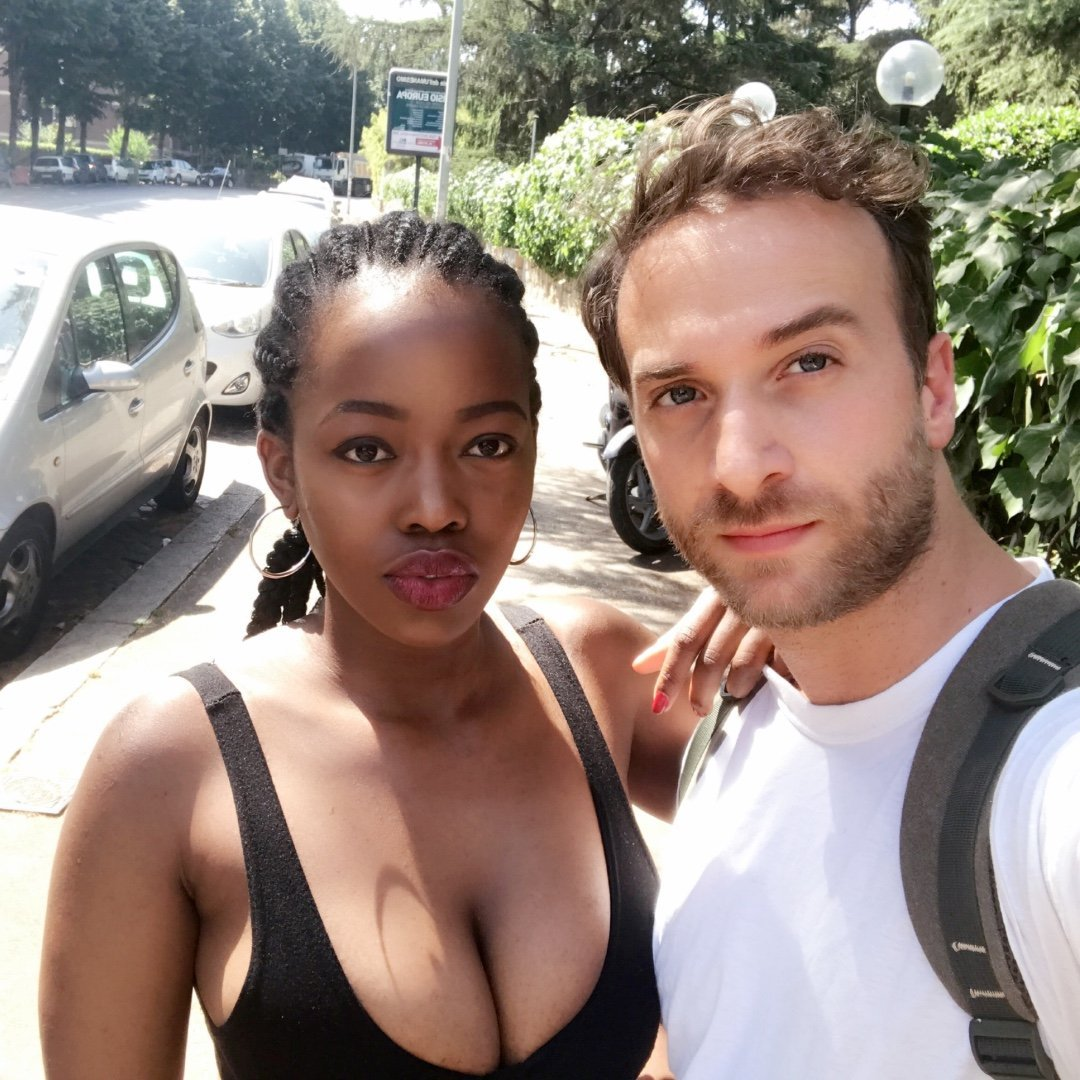 Forbidden Love: Racists baying for Carozon Kwamboka's blood for falling for a white boy