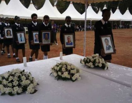 Rest In Peace girls; Photos from the memorial service held for the Moi Girl's students who lost their lives
