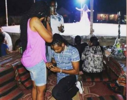 Wedding bells! DJ Kalonje proposes to the love of his life