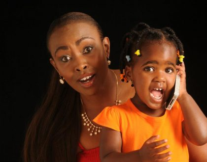 Caroline Mutoko and daughter