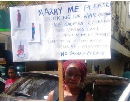 Black man gets shocking response from Cate Gachara -the Nairobi lady who went to the street to beg white men to marry her