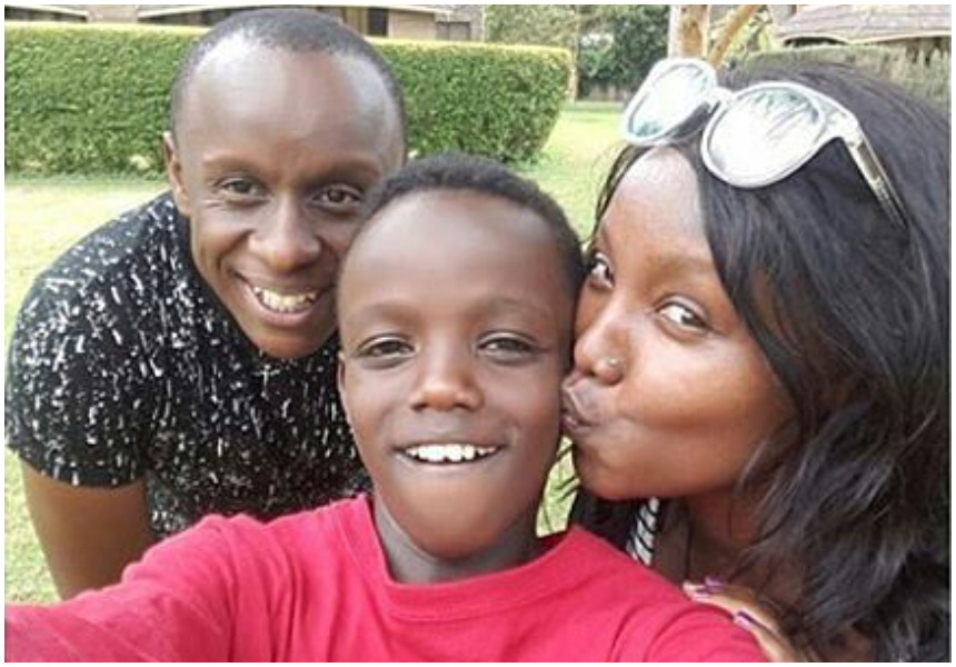 Image result for Catherine Kamau and son