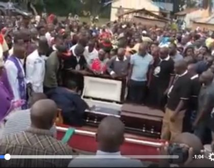 Shocking video of Chris Msando's mom opening her son's coffin and instructing him to haunt his killers emerges (Video)