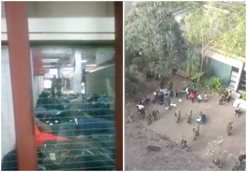 Shocking footage of GSU officers clobbering female Nairobi University students in their hostel