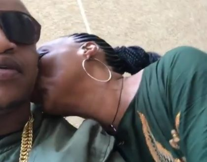Prezzo's mum shows off her rapping skills before planting a kiss on her son (Video)
