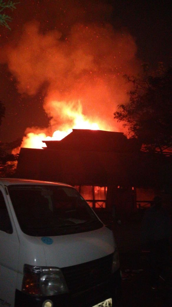 45-year-old man dies after Governor Mike Sonko's club Carussina burnt down last night (Photos)