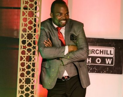 Comedian MC Jessy raises eyebrows after sharing this embarrassing photo of Churchill before pulling it down