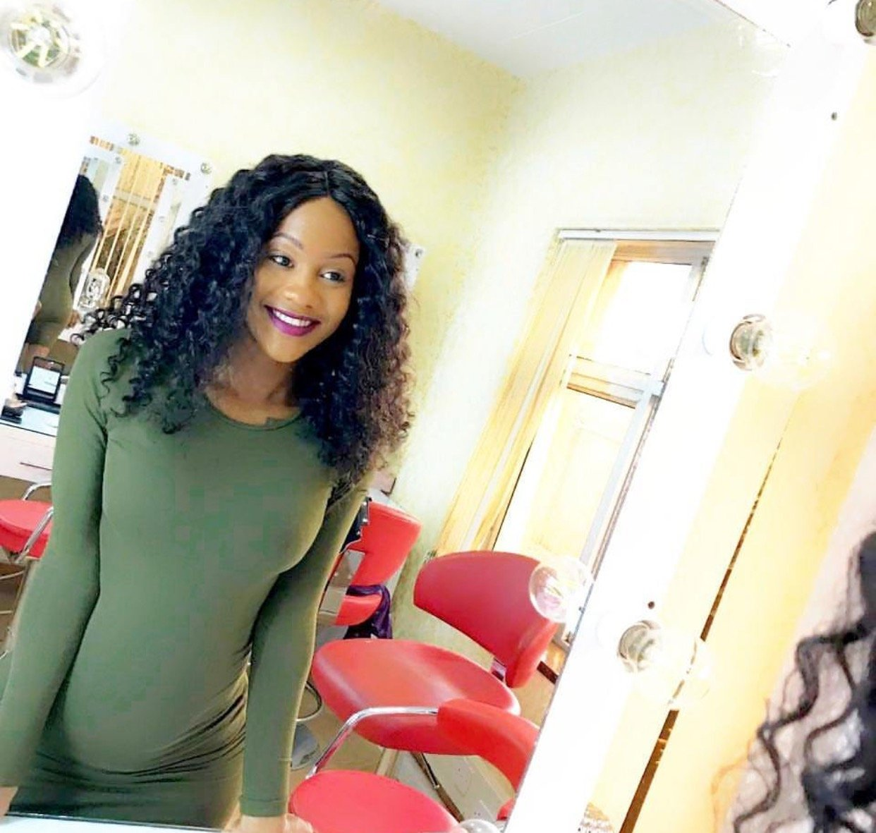Baby onboard: Prezzo's ex girlfriend flaunts her growing baby bump for the first time