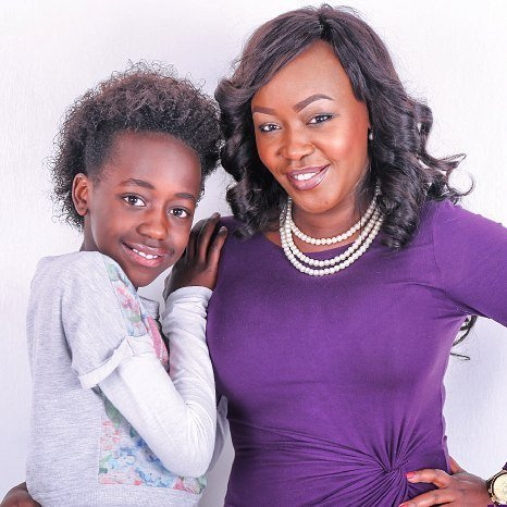TerryAnne Chebet with her adorable daughter