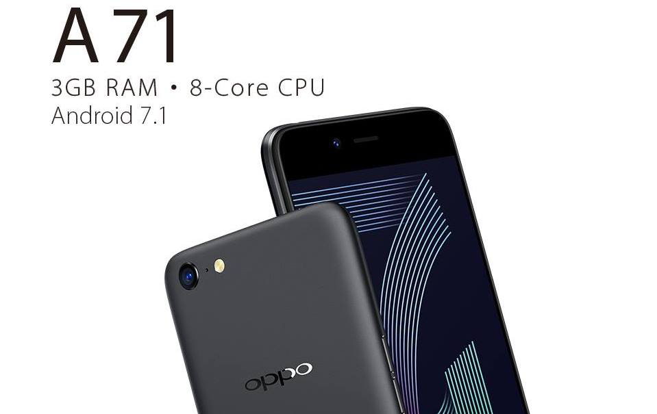 Oppo A71 unveiled in India with 5.2-inch display and 3GB RAM