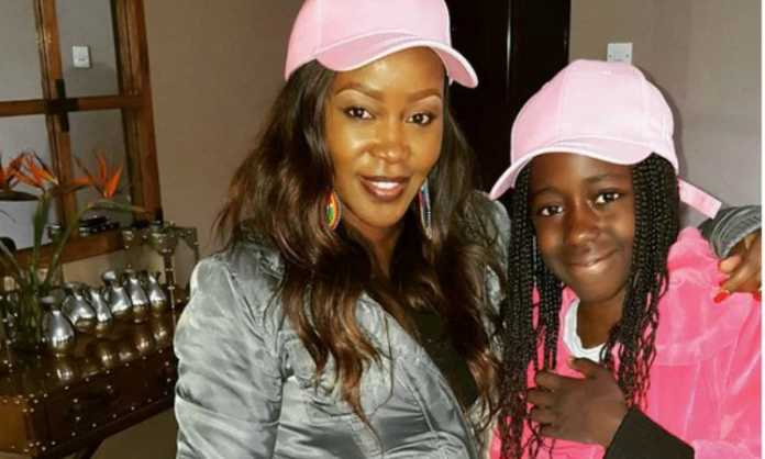 Terryanne Chebet shows off bulging baby bump for the first time in new photos