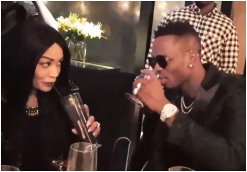 Zari puts on a rare public display of affection with Diamond after forgiving him for cheating on her